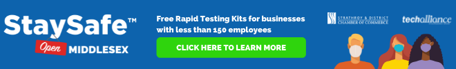 StaySafe - Free rapid testing kits for businesses with less than 150 employees.
